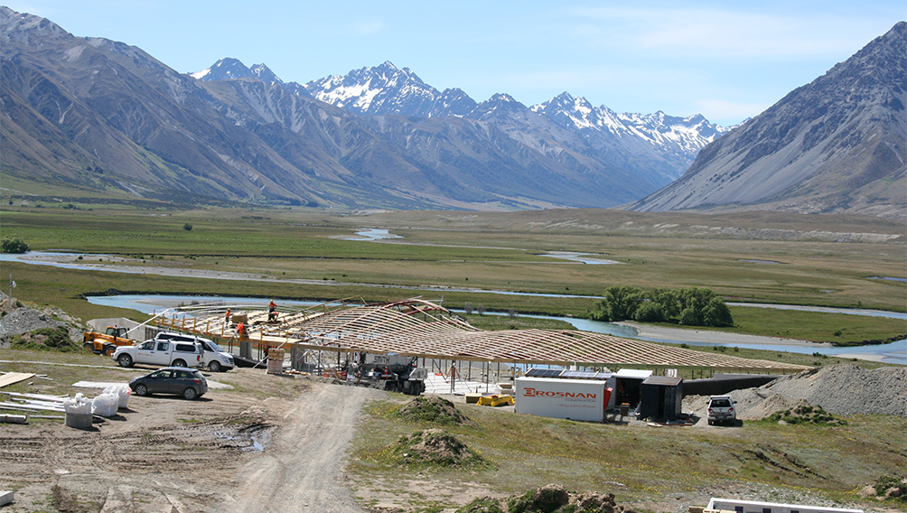 aw ahuriri valley isolated construction site