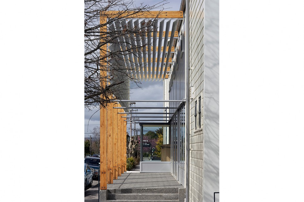 7 timber glulam frames louvres