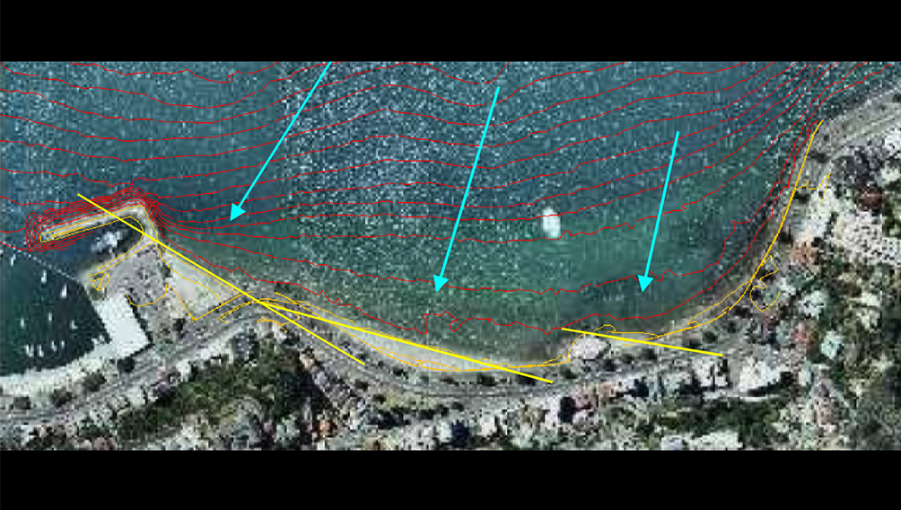aerial bathemetry oriental bay
