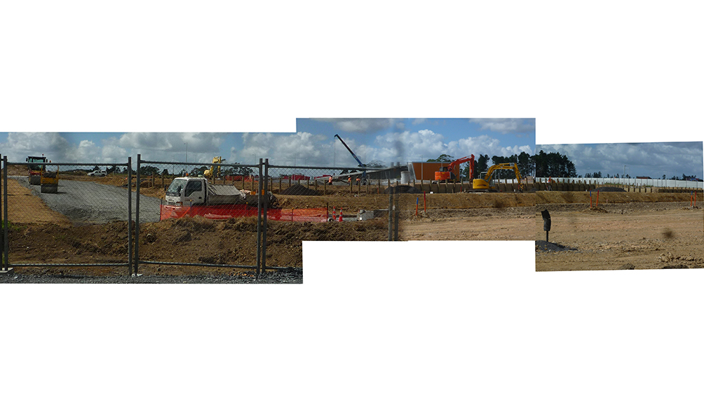 panorama construction site hobsonville aw