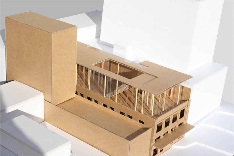 antipodes headquarters architecture card model